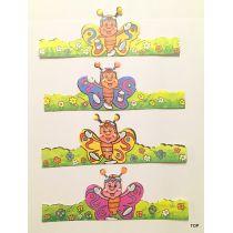 12 lustige Eier-Dekorationen Papier Manschette Ostern