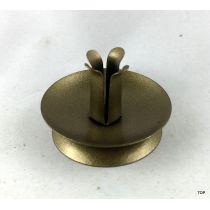 1er Kerzenständer Rund metallic Gold gepulvert dünne Kerzen