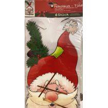 4 Folienbeutel Plätzchentüte Weihnachten Advent Geschenktüte Nikolaus günstig