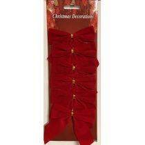 6 Rote Geschenkschleifen, ca 9 x10cm, für innen und außen günstig