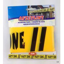 Absperrband Warnband Party Absperrband gelb schwarz