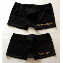Classic Boxer Boxershorts mit sächsischen Schriftzug Gold Sachsen