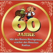 Flaschenetikett Bier 60.Geburtstag Jubiläum Geschenkidee Präsent
