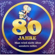 Flaschenetikett Bier 80.Geburtstag Jubiläum Geschenkidee Präsent