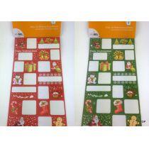 Geschenkaufkleber für Weihnachten Sticker 24tlg. Set 2 Varianten