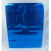 Geschenktüte glänzendem metallic Lackpapier Maße: 23 x 18 x 10 cm
