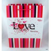 Geschenktüte mit romantischem Design Maße:  23 x 18 x 8 cm