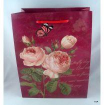Geschenktüte Rosen Ihre Geschenkverpackung Maße:  23 x 18 x 8 cm