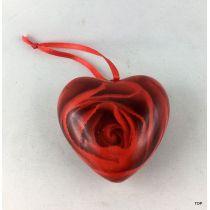 Herz mit Rosenmuster und Aufhänger Geschenkidee Dekoration
