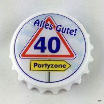 Kapselheber 40. Flaschenöffner mit Magnet Alles Gute 40