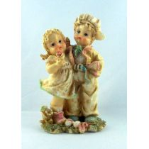 Kinderpaar Nizza Steinharz 3 Motive Geschenkidee pastellfarbig