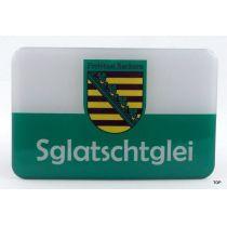 Magnet Sachsen Kühlschrankmagnet Sglatschglei Ostprodukt