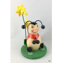 Marienkäfer Blumen Ostern Frühling Holz 9,5 cm Figur Tischdeko