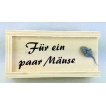 Schachtel Holz Party Feste Geldgeschenke Für ein paar Mäuse