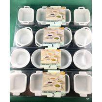 Set Schüsselset 4tlg. Dekoschälchen Beilagenschale  Porzellan