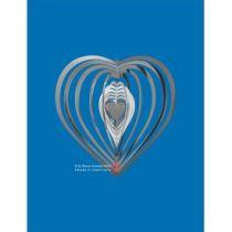Spirale 12730 Edelstahl 11 cm Hochglanz poliert Windspiel Herz