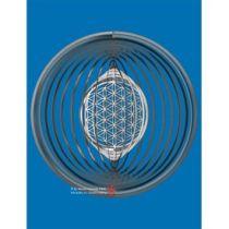 Spirale 12799 Edelstahl Kugel 15,3 cm Hochglanz poliert Windspiel