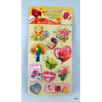Sticker Blumen Sticker Geschenkaufkleber Glitzer