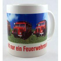 Tasse Kaffeetasse Kaffeebecher Feuerwehrmann Porzellan
