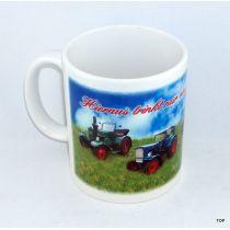 Tasse Traktor-Liebhaber mit vier Traktoren Kaffeetasse