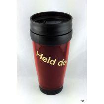 Thermobecher Held der Arbeit rot Kaffeebecher