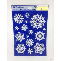 Weihnachts-Fensterdeko Bilder 20 x 30 cm Schneeflocke Glitter