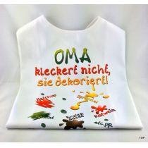 XL Latz Oma kleckert nicht, sie dekoriert Lätzchen für Erwachsene