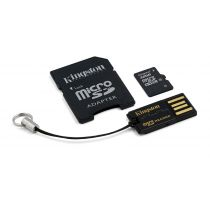Kingston Multi-Kit / Mobility Kit - Flash-Speicherkarte ( microSDHC/SD-Adapter inbegriffen ) - 32 GB
