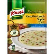 Knorr Kaiser Teller Kartoffel Lauch Suppe mit Speck 103g