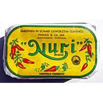 Nuri Brand Sardinen in scharf gewürztem Olivenöl 90g