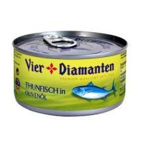 Vier Diamanten Thunfisch in Olivenöl 185g