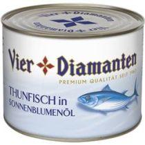 Vier Diamanten Thunfisch in Sonnenblumenöl 1,35 kg