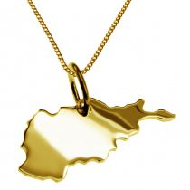 50cm Halskette + Afghanistan Anhänger in 585 Gelbgold