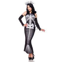 AKTIONSARTIKEL Skelett Meerjungfrau schwarz/grau/weiß Größe S