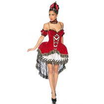 Alice-im-Wunderland-Kostüm rot/schwarz/weiß Größe XS