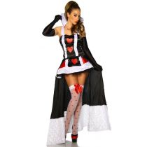 Alice-im-Wunderland-Kostüm schwarz/weiß/rot Größe M-L
