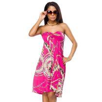 Bandeau-Kleid,pink/gemustert Größe M