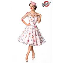 Belsira Premium Blumenkleid,rosa Größe L
