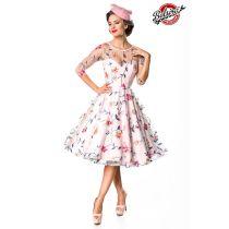 Belsira Premium Blumenkleid,rosa Größe XL