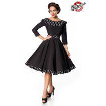 Belsira Premium Swing-Kleid,schwarz/weiß Größe 4XL