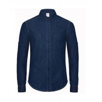 Denim Shirt LS Deep Blue Denim XL