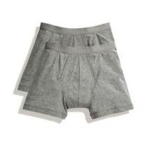 Herrenshorts Shorty (2er Pack) Light Grey Marl S