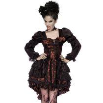Premium-Vampir-Kostüm braun/schwarz Größe M