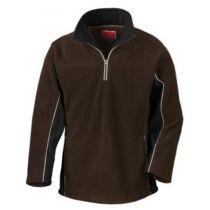 Tech3 Sport Fleece 1/4 Zip Sweater Coffee/Black XL