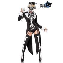 Voodoo-Priesterin: Voodoo Priestess schwarz/weiß Größe 2XL