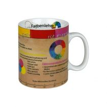 Becher Farbenlehre Kaffeetasse Tasse Kaffee Porzellan Kaffeebecher Henkelbecher Jumbo Farben Maler