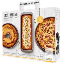 Birkmann Easy Baking Backformen-Set 3-tlg Springform Kastenform Gugelhupf