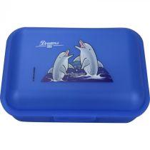 Brotbox Delphin blau mit 1 Trennsteg Delfin Brotzeitbox Brotzeitdose Brotdose Frühstücksdose
