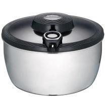 Edelstahlsalatschleuder schwarz mit Seilzugtechnik Salatschleuder Salatschüssel Salat Schüssel