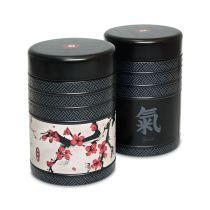 Eigenart Teedosen 2-er Set Kyoto 125g Vorratsdosen Tee Aufbewahrung Kaffeedose Blechdose rund Tee Dose Deckel